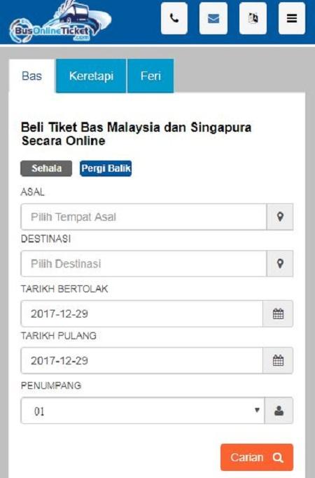 Tempah tiket bas online