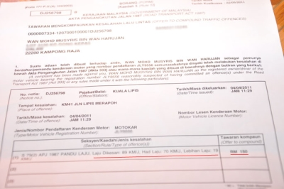 Appealing On Traffic Summons In Malaysia